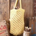 Free Pattern! Lattice Lace Market Bag knitted in Lily Sugar 'n Cream cotton