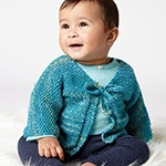 Free Pattern! 'Quick Stitch' Cardigan knitted in Bernat Softee Baby