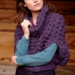 Free Pattern! 'Nicole' Cropped Poncho crocheted in Rowan Kid Classic