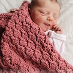 Free Pattern! 'Nighty-Night' Baby Blanket knitted in Drops Baby Merino