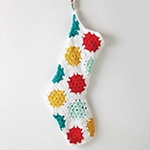 Free Pattern! 'On the Dot' Christmas Stocking crocheted in Caron Simply Soft