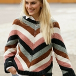 Free Pattern! 'Past to Present' Jumper knitted in Drops Sky