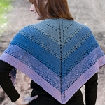 Free Pattern! Colour Shift Shawl knitted in Cascade 220 Fingering