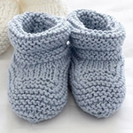 Free Pattern! Baby Booties knitted in Bernat Satin