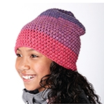 Free Pattern! Slouchy Beanie crocheted in Caron Cakes