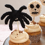 Crocheted Halloween Cupcakes