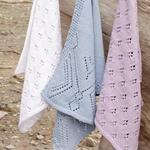Free Pattern! Knitted Towels with Lace Pattern in Drops Cotton Light