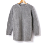 Free Pattern! Adults' Crocheted Crew Neck Pullover in Caron Simply Soft