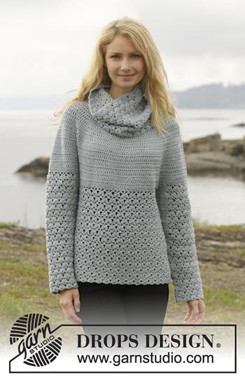 Free Pattern! 'Yesterday' Jumper crocheted in Drops Merino Extra Fine