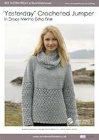 Free Pattern! 'Yesterday' crocheted jumper in Drops Merino Extra Fine