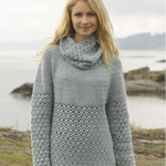 Free Pattern! 'Yesterday' Jumper crocheted in Drops Merino Extra Fine
