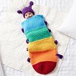 Free Pattern! Snuggle Sack crocheted in Bernat Blanket