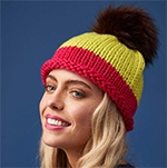 Free Pattern! Big Wool Brights Beanie knitted in Rowan Big Wool