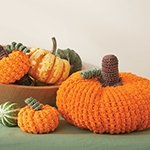 Free Pattern! Crocheted Pumpkins in Lily Sugar 'n' Cream cotton