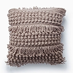 Free Pattern! 'Tassel and Texture' Crocheted Cushion in Bernat Softee Chunky