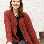 Free Pattern! 'Rosehip Jam' Knitted Jacket in Drops Melody