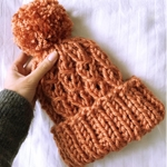 Free Pattern! The 'Mock Cable' Hat knitted in Cygnet Seriously Chunky Metallics