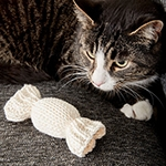 Knitted Catnip Toys in Lily Sugar n Cream cotton