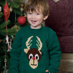 Knitted Children's Reindeer Jumper in Patons Fab DK