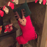 Stylecraft Knitted Christmas Stocking