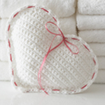 Crocheted Heart Sachet in Lily Sugar n Cream Scents