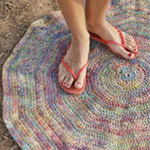 Crocheted 'Roundabout' Rug in DROPS Fabel