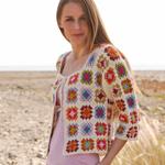 Crocheted 'Summer Patchwork' Jacket in DROPS Alpaca