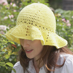 Free Pattern! Crocheted Sun Hat in Lily Sugar 'n Cream Solids
