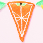 Fruit Salad Knitted Bunting
