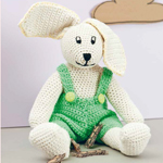Lenny the Crocheted Bunny in Rico Creative Cotton