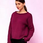 Knitted Sweater in Rico Essentials Soft Merino Aran