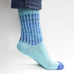 Knitted 'Em Dash' Socks in Cascade Heritage and Heritage Paints