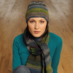 Free Pattern! 'Cowslip' Knitted Hat and Scarf in Noro Silk Garden